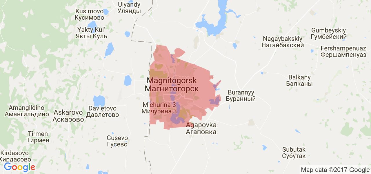 Карта магнитогорска картинки