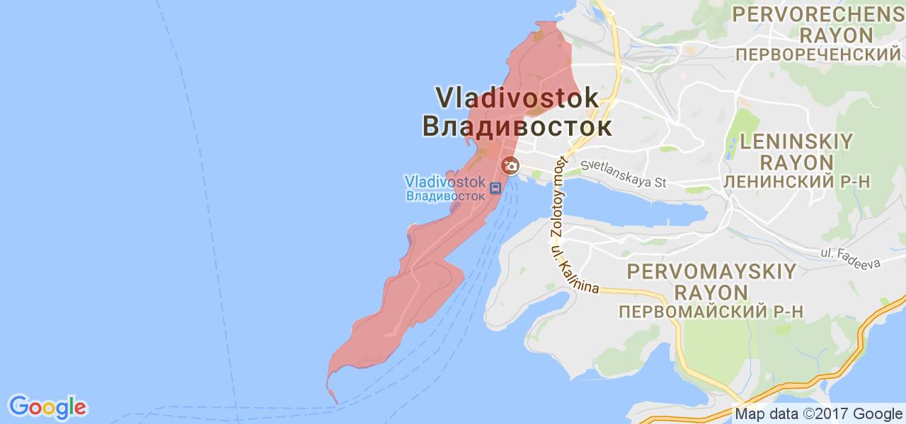 Карта владивостока с фотографиями