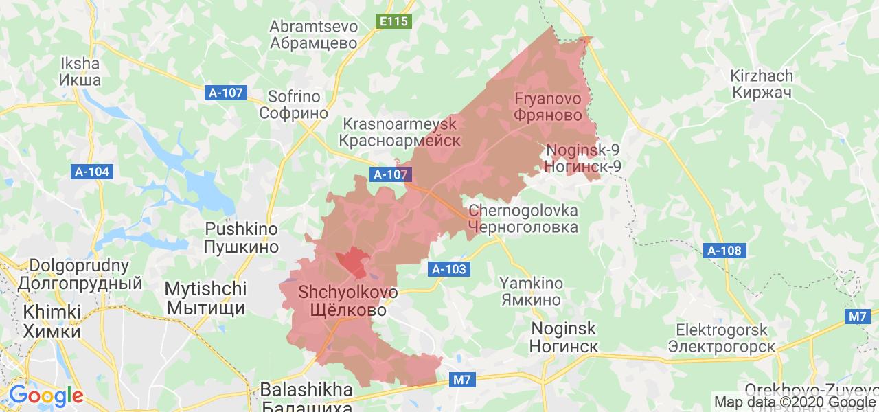 Фото город щелково московской области карта